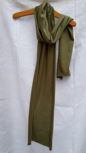 Titel: Grüne Erde Single-Jersey-Schal Bio-Baumwolle helles Olivgrün leger