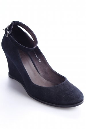 TJ Collection Keil-Pumps schwarz Casual-Look