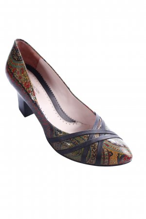 TJ Collection Pumps floral pattern extravagant style