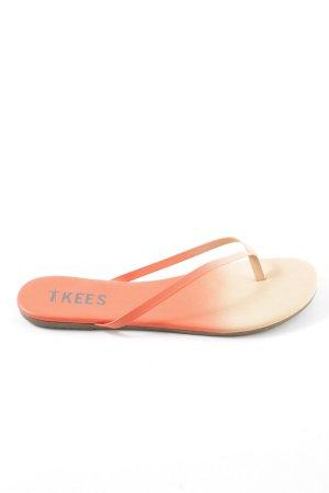Tkees Toe-Post sandals light orange-nude color gradient casual look
