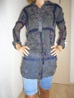 Zara Blouse bleu acier-bronze