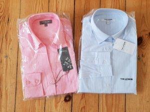 TM Lewin 2 Business Hemden XS 32 34 slim fit Bluse Oberteil Shirt Tunika Baumwolle Neu mit OVP