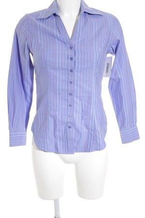 TM Lewin Langarmhemd blauviolett-lachs Streifenmuster