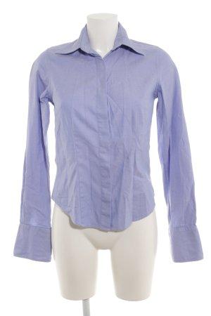 TM Lewin Langarmhemd graublau-weiß Streifenmuster Business-Look