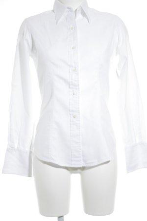 TM Lewin Chemise à manches longues blanc style anglais