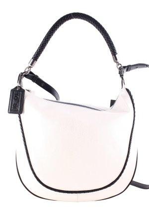 To Be Handtasche silberfarben-schwarz schlichter Stil