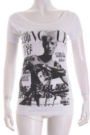 To the Black T-Shirt weiß-schwarz platzierter Druck Street-Fashion-Look