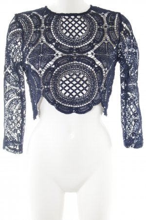 TOBY HEART GINGER Cropped Shirt blau Mustermix extravaganter Stil
