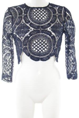 TOBY HEART GINGER Camicia cropped blu modello misto stile stravagante