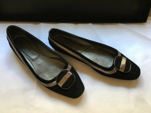 Tod's Ballerinas black-silver-colored