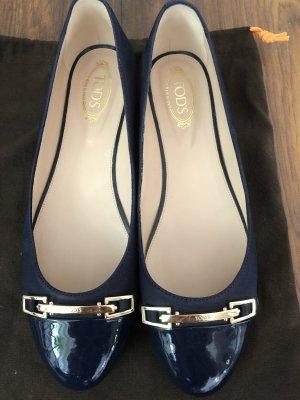 Tod's Bailarinas con punta azul oscuro
