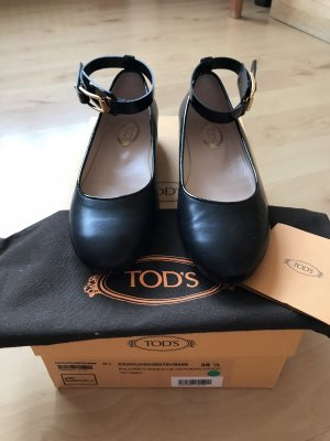 Tod's Strappy Ballerinas black-gold-colored