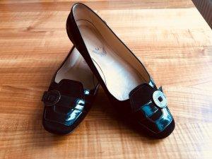 Tod's Ballerines en cuir verni noir cuir