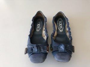 Tod´s blau Wildleder mit Lackschleife Größe 36