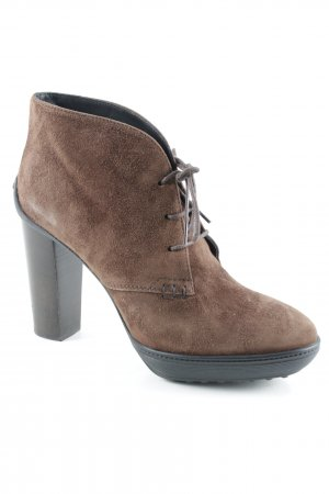 Tod's Booties braun Casual-Look