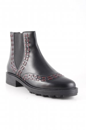 Tod's Chelsea Boots black-dark red classic style
