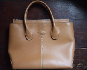 Tod's D-Bag Vintage Medium camelfarben naturfarben