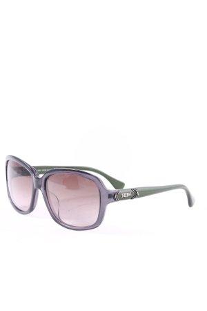 Tod's eckige Sonnenbrille anthrazit-dunkelgrün klassischer Stil