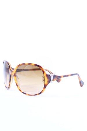 Tod's eckige Sonnenbrille beige-dunkelbraun klassischer Stil