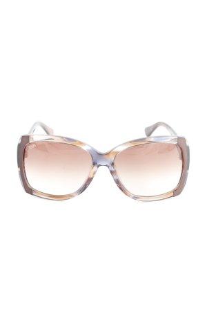 Tod's eckige Sonnenbrille dunkelbraun-blau Casual-Look