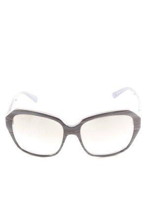Tod's Occhiale da sole spigoloso nero-blu puntinato stile casual