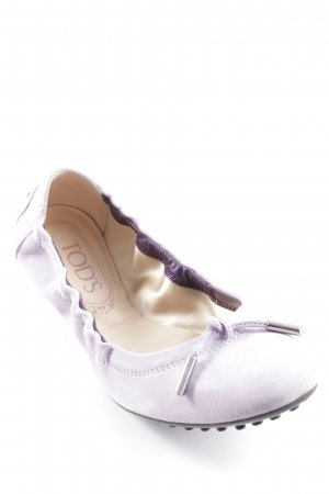 Tod's faltbare Ballerinas blasslila Romantik-Look
