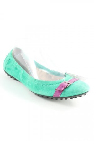 Tod's Ballerines pliables vert-violet style mode des rues