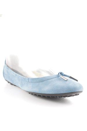 Tod's faltbare Ballerinas kornblumenblau-schwarz Elegant