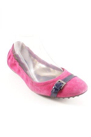 Tod's faltbare Ballerinas magenta-dunkelblau Casual-Look