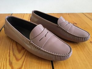 Tod's Moccasins grey lilac-mauve leather