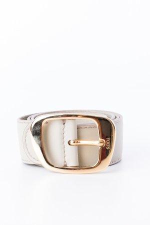 TOD'S - Gürtel mit goldener Schnalle Beige