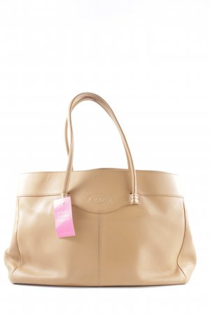 Tod's Handtasche beige Business-Look