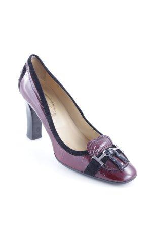 Tod's High Heels bordeauxrot-schwarz klassischer Stil