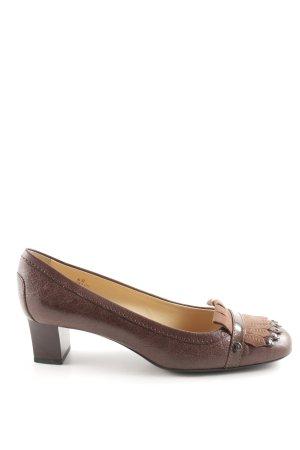 Tod's High Heels braun extravaganter Stil