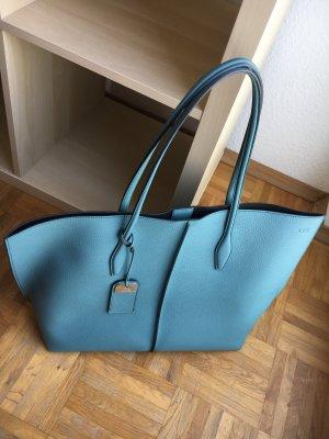 Tod's Borsa shopper blu pallido-nero