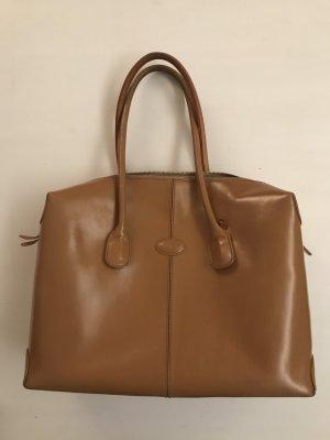 Tod's Klassiker große D-Bag Leder Tasche nude beige