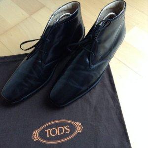 Tod's klassische Schnürboots in Glattleder schwarz Größe 40 mit Staubbeutel