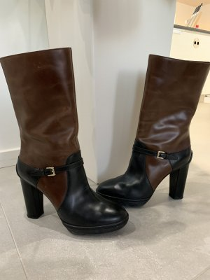 Tod's Short Boots black-brown
