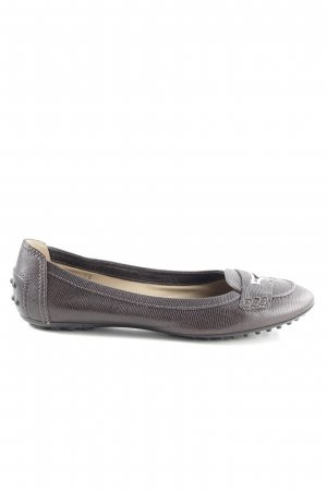 Tod's Lackballerinas braun Animalmuster Casual-Look