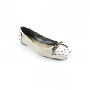Tod's Patent Leather Ballerinas dark brown-cream classic style