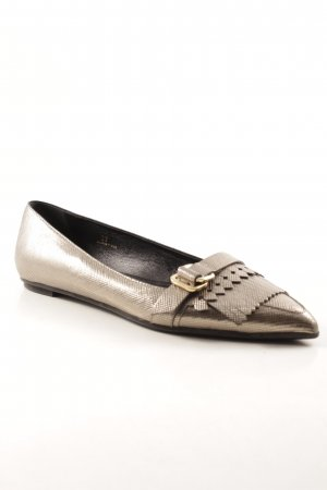 Tod's Lackballerinas silberfarben-goldfarben Business-Look