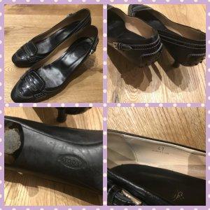 Loafers zwart Leer