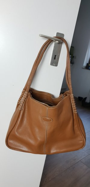 TOD'S Leder-Handtasche, braun, wie neu