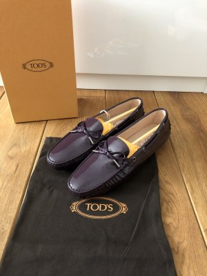Tod's Mocassins rouge mûre
