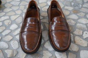 Tod's Moccasins cognac-coloured-black leather