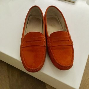 Tod's Loafer Wildleder orange Gr. 40,5 top