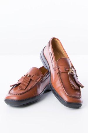 TOD'S - Loafers Cognac-Braun mit Tasseln