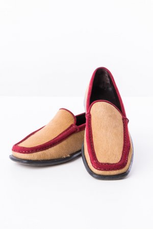 TOD'S - Loafers in Ponyfell-Optik Rot-Braun