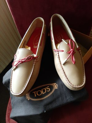 Tod's Mocassins rouge-rose chair cuir