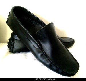 TOD'S Mokassin Gommino klassische Form schwarz gut erhalten